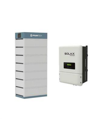 PylonTech & Solax PV Speicher Set + X3-Hybrid 8.0 T   48V   24.5 kWh