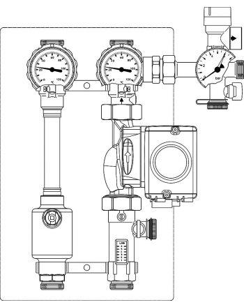 Regusol | Oventrop Station LH-130 mit Wilo Stratos Tec | 2-15 l/min