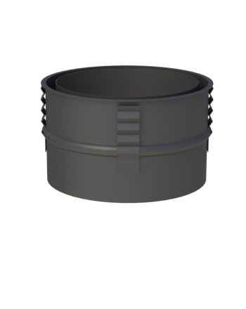Jeremias Wandfutter mit Zentrierfeder | schwarz | Ø150mm