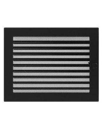 Lüftungsgitter Luftgitter mit Lamellen 22x37 cm, schwarz