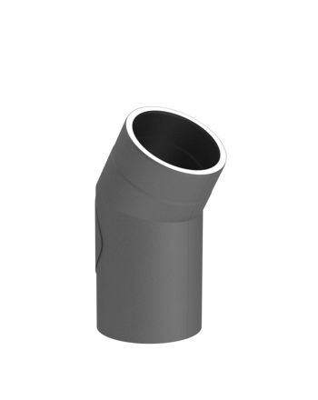 Isoliertes Ofenrohr Winkel 30° mit Tür | Gussgrau | Ø 150mm