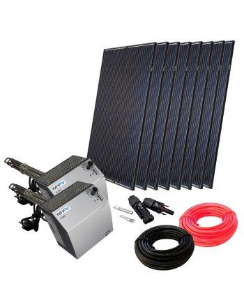 Photovoltaik komplett Set zur Warmwasserbereitung | 2x DC-ELWA | 2560W