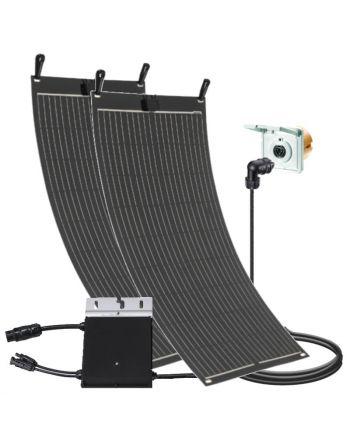Balkon Solar Set | 300 Watt | flexibles Modul | Einspeisesteckdose