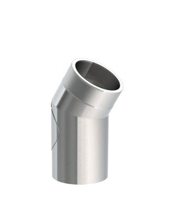 Isoliertes Ofenrohr Winkel 30° mit Tür | Edelstahl Gebürstet | Ø 130mm