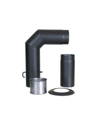 #Kamino-Flam Winkelrohr-Set mit Verlängerung | Ø 150 mm schwarz | B-Ware