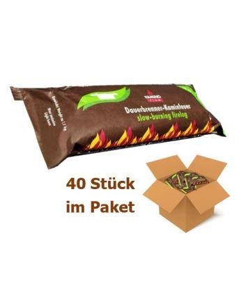 KaminoFlam® | Holzscheit Dauerbrenner | 40 Stück