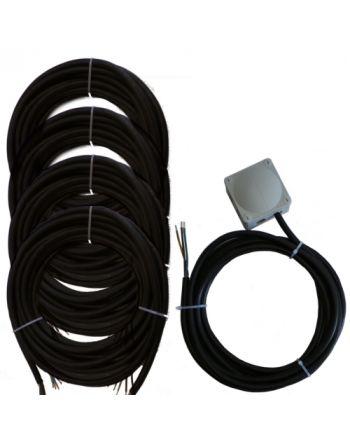 Montageset für Multisplit-Klimaanlagen | 3x4,0mm² 1Phasig | 4x IG