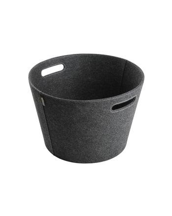 Aduro | Holzkorb Proline aus Filz | grau | Ø 45cm