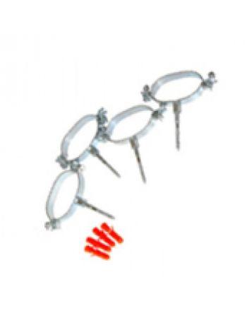 Ovalschellen-Set | 4 Stück | für Solar-Spiralrohr DN20