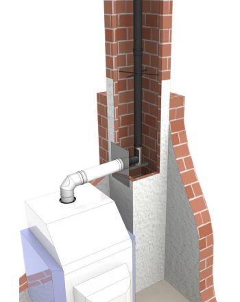 Abgassystem für Brennwertgeräte Komplettset Ø 80/125 mm