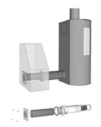 Aduro Frischluftsystem, Ø 80 mm