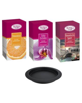 Kratki Aromatherapie Set 1 für Biokamine | 3 x Duftöl + Duftschale