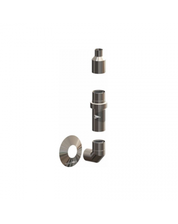 ATEC | Basis-Set Abgas-Außenwandinstallation | IronPoly | DN60/100