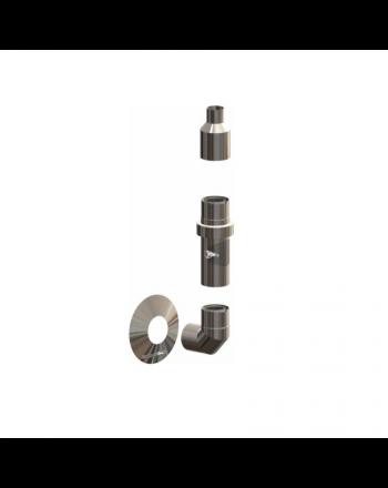 ATEC | Basis-Set Abgas-Außenwandinstallation | IronPoly | DN110/160