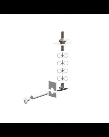 ATEC | Schacht-Set Mündung aus Edelstahl | PolyTwin | DN80/125-DN80