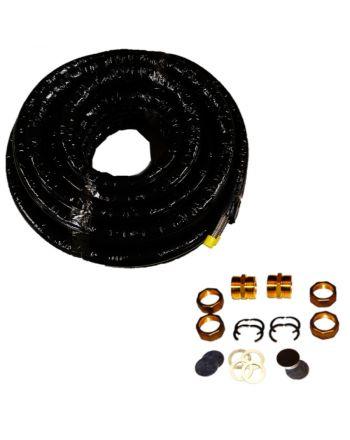 Solarspiralrohr   Doppel-Edelstahlwellrohr 10 Meter   DN20 EPDM 13mm