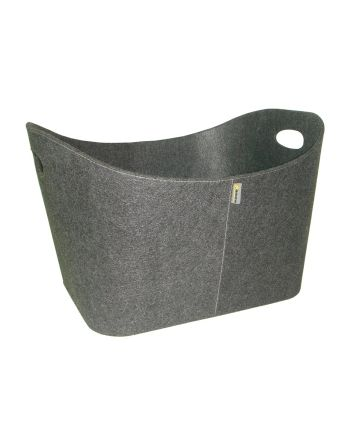 Aduro   Baseline Holzkorb aus Filz   grau