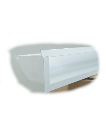 #Kratki Lüftungsgitter 45S | 90x800x126,5 mm | weiß | B-Ware