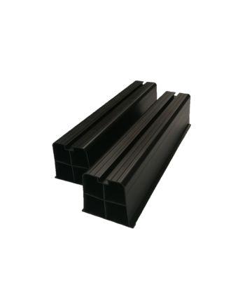 Bodenkonsolen Set zur Bodenaufstellung von Außengeräten | schwarz