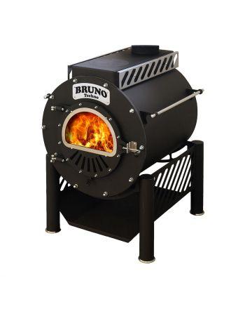 Werkstattofen   BRUNO I Techno 15 kW   mit Kochplatte und Ständer