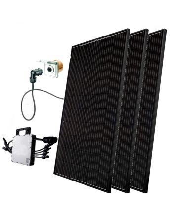 Minisolar | Balkon Solar | Mono Black Triple 900 W | inkl. Einspeisesteckdose