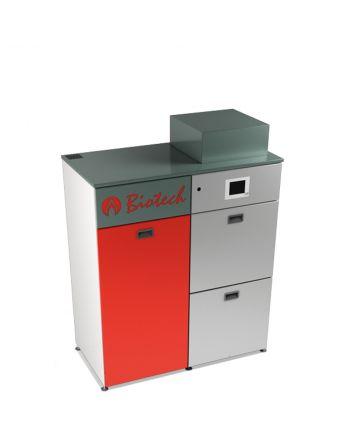 Biotech Bafa Pelletsheizkessel ✔ PZ35RL automatische Befüllung 35 kW ✔