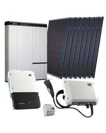 Photovoltaik Set inkl. Batterie | Auto-Ladestation | 16x Solar Modulen