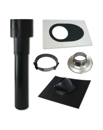 WOLF | Zubehör | Dachanschluss-Set | für Wohnraumlüftung CWL | Schwarz