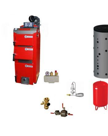 Defro Optima Komfort Plus Festbrennstoffkessel | Heizungset | 3,9 kW