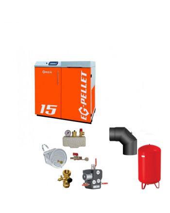 Pelletkessel EKOGREN EG-Pellet 15 kW Bafa gefördert | Komplettset 1