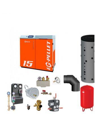 Pelletkessel EKOGREN EG-Pellet 15 kW Bafa gefördert | Komplettset 3