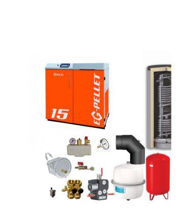 Pelletkessel EKOGREN EG-Pellet 15 kW Bafa gefördert | Komplettset 4