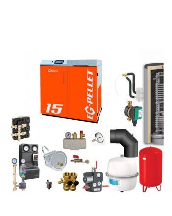 Pelletkessel EKOGREN EG-Pellet 15 kW Bafa gefördert ✔ Komplettset 5