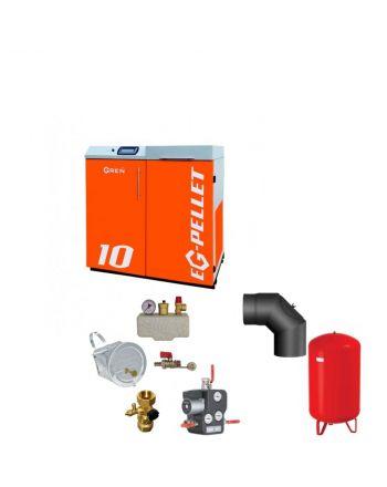 Pelletkessel EKOGREN EG-Pellet 10 kW Bafa gefördert | Komplettset 1