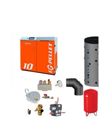 Pelletkessel EKOGREN EG-Pellet 10 kW Bafa gefördert | Komplettset 2