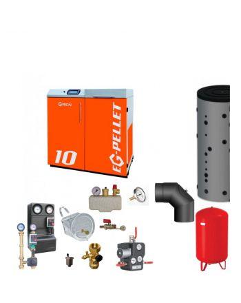Pelletkessel EKOGREN EG-Pellet 10 kW Bafa gefördert | Komplettset 3