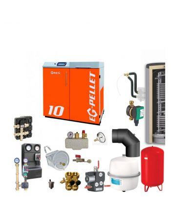 Pelletkessel EKOGREN EG-Pellet 10 kW Bafa gefördert | Komplettset 5