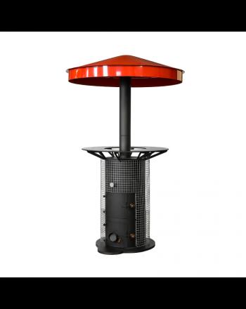 EuroTeplo | holzbetriebener Heizpilz | Feuerrot