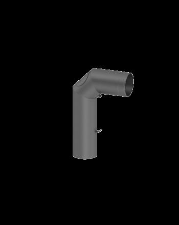 Winkelrohr / Ofenrohr / Rauchrohr FERRO Ø 180 mm, lackiert gußgrau