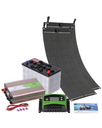 Solar Inselanlage | flexibles Set 1000W | Strom erzeugen und speichern
