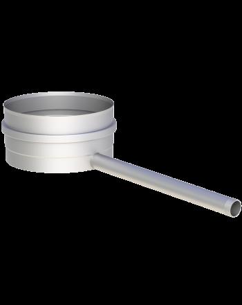 """Kondensatschale mit Ablauf 250mm, 1/2"""" Nippel, Ø wählbar"""
