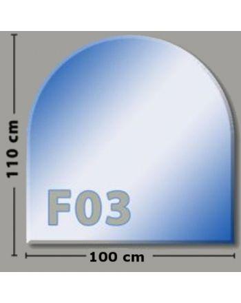 Rundbogen F03 Funkenschutzplatte Glasbodenplatte aus Sicherheitsglas