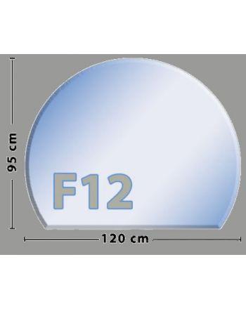 Kreisabschnitt F12 Funkenschutzplatte aus Sicherheitsglas