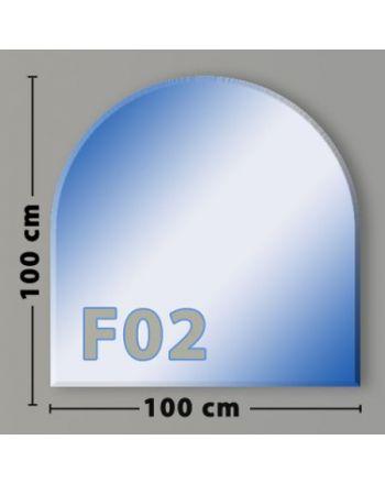 Rundbogen F02 Funkenschutzplatte Glasbodenplatte aus Sicherheitsglas