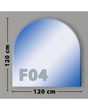Rundbogen F04 Funkenschutzplatte Glasbodenplatte aus Sicherheitsglas