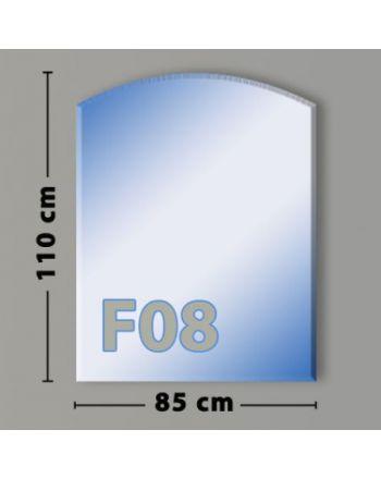 Segmentbogen F08 Funkenschutzplatte aus Sicherheitsglas