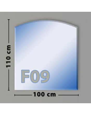 Segmentbogen F09 Funkenschutzplatte aus Sicherheitsglas
