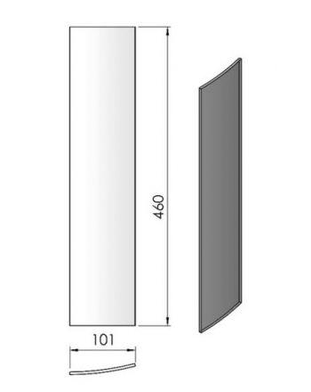 Termatech TT10 gebogenes Seitenglas