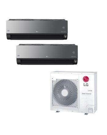 LG MultiSplit-Klimaanlage | 2 x 6.6 kW ArtCOOL Energy Wandgerät | R32