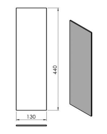Termatech TT10 gerades Seitenglas Innen